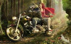 motorcycle riders pictures | red-riding-hood-motorcycle1