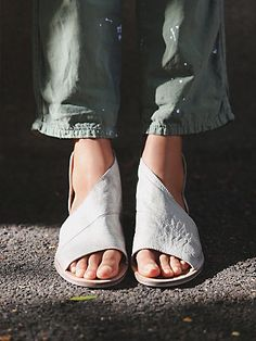 Mont Blanc Sandal | Made with the finest Spanish craftsmanship and leather, this open toe shoe features side cutouts.  Slight stacked heel.  *By Free People
