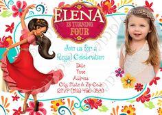 Elena of Avalor Birthday Party Invitation, Elena of Avalor invitation
