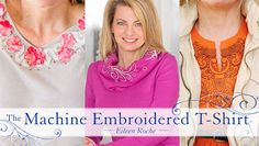 Transform+your+T-shirts+from+casual+to+chic+with+machine-embroidered+embellishments+taught+by+embroidery+expert+Eileen+Roche. - via @Craftsy