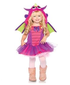 New Girl's Purple Dragon Dress and Wings Outfit Kids Toddler Halloween Costume | eBay
