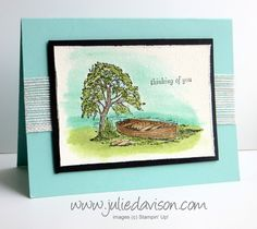 VIDEO: How to Watercolor Stampin' Up! Moon Lake Stamp Set #3