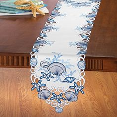 Coastal Seashell Table Linens, Runner Collections Etc