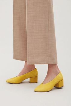 COS | Suede shoes with oversized heels