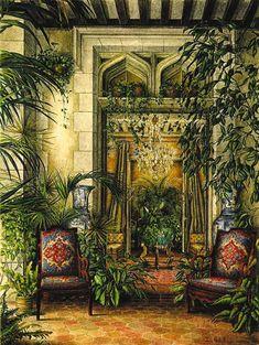 Isabelle Rey, Chateau Gabriel Winter Garden, 1991