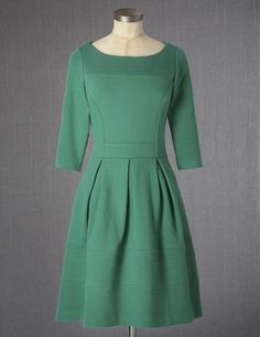 cuteness. also in a fab red and versatile doable charcoal. @BodenClothing Libby Dress Verdant