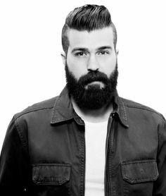 dark hair thick beard mustache undercut hair styled stylish beards bearded man men handsome