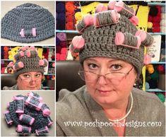 curler crochet hat