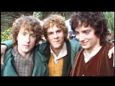 Clip from Lord of the Rings: Fellowship of the Ring (Limited Edition) Behind-the-scenes feature.    Dominic Monaghan and Billy Boyd make fun of Elijah Wood for farting.