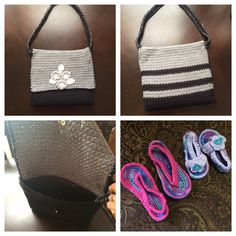 Alhamdullah today I finished my bag and my nieces Kawthar and Remas' sandals