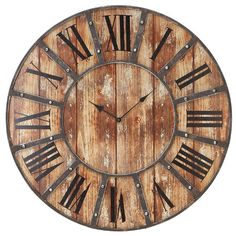 "Found it at Wayfair - Metal Oversized 24"" Wall Clockhttp://www.wayfair.com/daily-sales/p/The-Rustic-Chic-Style-Shop-Metal-Oversized-24%22-Wall-Clock~WLI1010~E14803.html?refid=SBP.rBAZEVQitfS8yEqdWPSzAjySheJWrkiMjwBZc8k6weA"