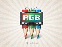 rgb - crayons icon - free psd by nelutuinfo