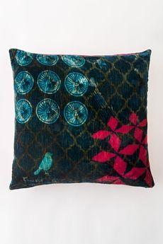 """Bali Myna Rayon Cotton Cushion - Indigo 20"""" x 20"""""""