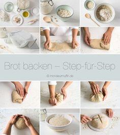 Richtig gutes Brot backen   Step-by-Step Anleitung   Roggen-Mischbrot   Brot   Brot-Rezept   Schritt-für-Schritt   bread   bread baking step by step   © monsieurmuffin