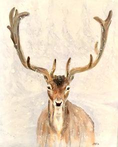 Moose Art, Original Art, Watercolor, Ink, Artist, Animals, Design, Pen And Wash, Watercolor Painting