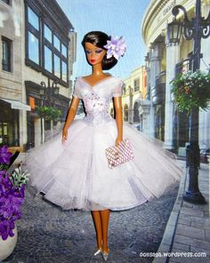 The Lavender Luxe Cocktail Party Dress Barbie Silkstone