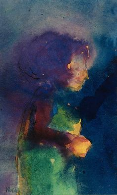 """""""Niña 1"""" de Emile Nolde (1867-1956, Germany)"""