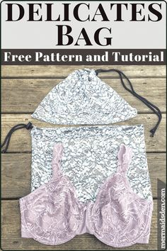 Sewing Tutorials For Beginners Sew a Quick and Easy Lingerie Bag or Delicates Bag. Free pattern and tutorial included for a simple drawstring bag. Make this in half an hour or less! Dress Sewing Tutorials, Easy Sewing Projects, Sewing Projects For Beginners, Sewing Hacks, Sewing Tips, Sewing Ideas, Sewing Crafts, Bag Patterns To Sew, Sewing Patterns Free