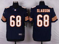 05f91de8810b Mens Chicago Bears Matt Slauson  68 Navy Blue Elite Jersey