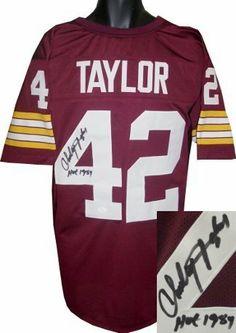 Charley Taylor Autographed Hand Signed Washington Redskins Maroon Prostyle  Jersey HOF 1984- JSA Holo by Hall of Fame Memorabilia.  180.95. 63e11da08