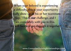 The Center for Thriving Relationships helps couples all over the world turn conflict into connection, problems into possibilities, and all that is mediocre into love that is MAGNIFICENT!    www.CenterForThrivingRelationships.com www.Facebook.com/ThrivingRelationships www.Pinterest.com/thrivinglove
