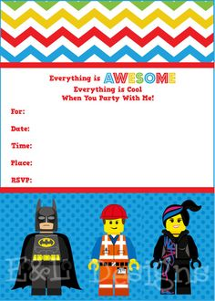 LEGO Colouring Book Party Pinterest Birthday Ideas Lego - Lego birthday invitation template free