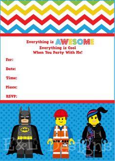 Lego Movie Invitation,Lego Movie Party, Instant Download, Printable, Etsy