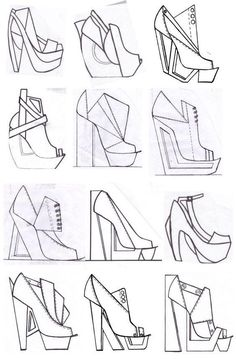 New Ideas For Design Product Portfolio Fashion Sketchbook Fashion Design Portfolio, Fashion Design Drawings, Fashion Sketches, Drawing Fashion, Fashion Sketchbook, Sketchbook Ideas, Fashion Illustration Shoes, Flat Drawings, Technical Drawings