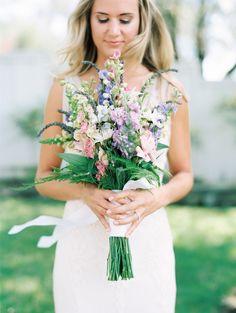 wildflower bouquet | Photography: Kristen Wood - kristenwood.com  Read More: http://www.stylemepretty.com/california-weddings/2014/04/03/soft-romantic-sonoma-winery-wedding/