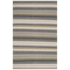 Safavieh Hand-Woven Striped Kilim Grey Wool Rug (8' x 10')
