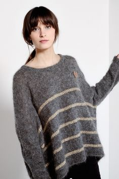 Achiko Flecked Dark Grey Pullover