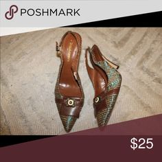 Enzo Angiolini  shoes Small heel, open back with strap, size 7.5-8 Enzo Angiolini Shoes Heels