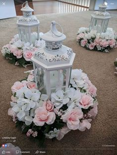 Quinceanera Decorations For Your Wedding Best Picture Ideas) Not these colors, but maybe something like this instead of putting flowers inside?Not these colors, but maybe something like this instead of putting flowers inside? Lantern Centerpieces, Wedding Table Centerpieces, Flower Centerpieces, Centerpiece Ideas, Lanterns, Centrepieces, Quinceanera Planning, Quinceanera Party, Quinceanera Dresses