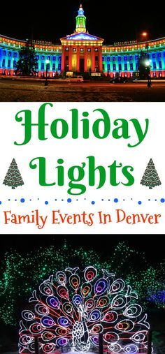 Holiday Lights - Family Events In Denver, Denver Zoo Lights, Christmas lights in Denver, Denver Christmas lights, Christmas events in Denver, Candlelight Walk in downtown Littleton, Light the lights Denver, 9NEWS Parade of Lights, Catch the Glow Parade Estes Park, Blossoms of Light at the Botanical Gardens.Chatfield Farms Botanic Gardens Santa's Village