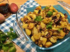 Patate e funghi in padella, ricetta contorno saporito