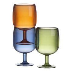 acrylic stacking wine glass