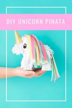 DIY Unicorn Pinatas • A Subtle Revelry