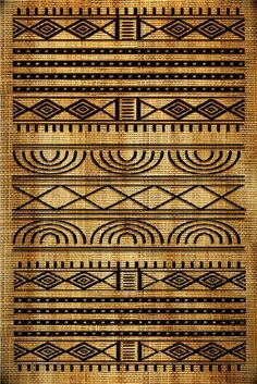 Beautiful African Motifs And Textures With Excellent Geometrical Designs Brownish Colors That Contribute Even More To The Whole Effect