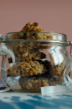 Biscotti Biscuits, Italian Recipes, Vegan Recipes, Sweet Recipes, Sugar Free, Oatmeal, Good Food, Food And Drink, Gluten Free