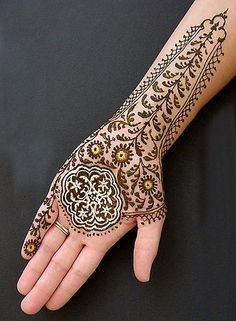 2013 Amazing Glitter Mehndi Designs for any Occasion