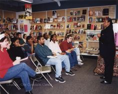 """ID#0223 Date: 1994-1996. This is Elaine Brown speaking at the bookstore. Ms. Brown wrote Taste of Power: A Black Woman's Story. The book tells of Ms. Brown's years as a leader in the Black Panther Party.  Participant: Liz Burgess. Additional Sources: Karen Long Interview 01/27/01; Oberlin Heritage Center: Fred Maddock files; McQueen, Albert, """"A Brief History of the Oberlin Consumers Cooperative and its Businesses.""""; Inge, Angela. """"A long Co-op History"""" Chronicle-Telegram, June 18, 2000."""