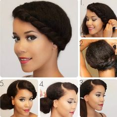 A side bun looks asymmetric and luscious, and it works greatly on long hair and medium hair. The below are some popular side bun hairstyles that looks. Side Bun Hairstyles, Protective Hairstyles, Afro Hairstyles, Trendy Hairstyles, Protective Styles, Medium Hair Styles, Curly Hair Styles, Natural Hair Styles, Medium Curly
