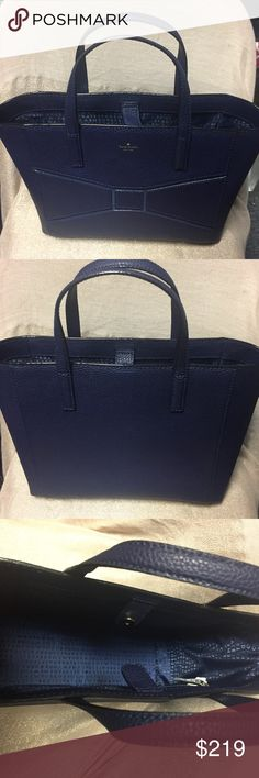 NEW!! Kate Spade Bow Purse Beautiful blue Shoulder bag. Looks amazing. Perfect for everyday. Make an offer! Make it yours! Great condition. Never worn. NEW! No flaws. Very spacious and stylish. Makes a great gift. kate spade Bags Shoulder Bags