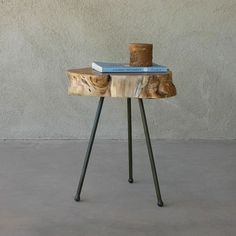 Wooden side table. #design #wood #furniture #tree