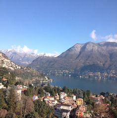View over Villa D'Este in Cernobbio