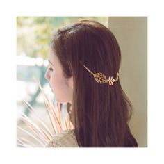 Stylish Leaf Embellished Solid Color Alloy Headband For Women ($1.89) ❤ liked on Polyvore featuring accessories, hair accessories, hair band accessories, hair band headband, head wrap headband, leaf headband and headband hair accessories