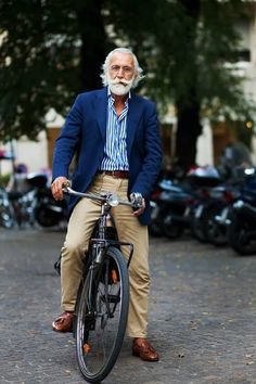 The beard, the bike, or the suit? You pick