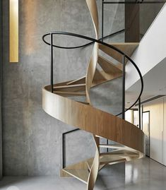 Use these awesome spiral staircase in your home. Over thirty spiral staircase ideas you can implement in your design. Feed your design ideas now. Interior Stairs, Interior Architecture, Room Interior, Stairs Architecture, Interior Photo, Futuristic Architecture, Landscape Architecture, Timber Staircase, Spiral Staircases