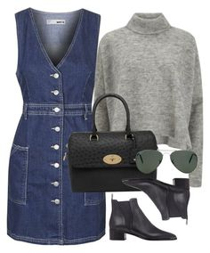 """Untitled #1640"" by erinforde ❤ liked on Polyvore featuring Topshop, Designers Remix, Mulberry, Acne Studios and Ray-Ban"