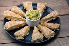 For super bowl party    Nacho Cheese Triangles on http://www.elanaspantry.com